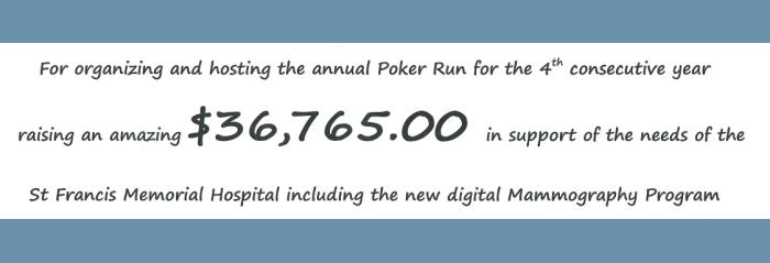 Fourth Annual SFMH Foundation Charity Poker Run (2016)